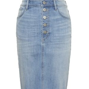 Banana Republic Button Fly Denim Skirt Size 6 Jean